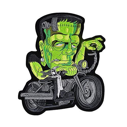 Parche grande para planchar o coser, diseño de punk y motero, para ropa Skull 1