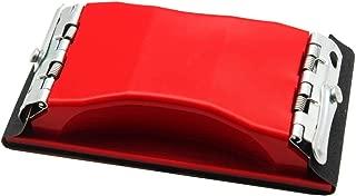 WEWGO Sanding Block,Block Sander for Wood Glasses Car Furniture Finishing Sanding Sheets Holder Clamp Makes Sandpaper Won't Rip Sand Block Fit Dry&Wet Sandpapers