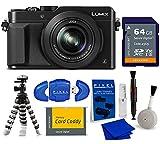 Panasonic LUMIX LX100 4K Point and Shoot Camera,3.1X Leica DC Vario-SUMMILUX F1.7-2.8 Lens with Power O.I.S,12.8 MP, DMC-LX100K (USA Black) Bundle with 64GB Card & More  DMC-LX100 4K Digital Camera.