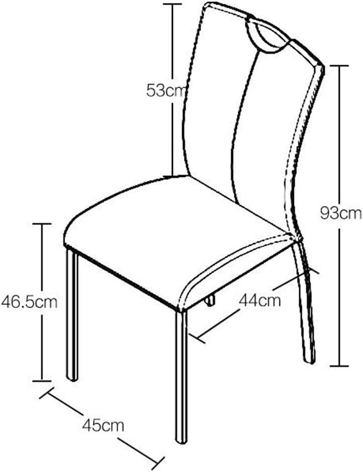 HURONG168 Chaises de cuisine Chaise de restaurant nordique chaise de restaurant maison tabouret chaise en fer forgé cuir chaise à manger siège lounge (Couleur : Blanc) Noir