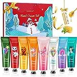 Crema de Manos-GLAMADOR Set de Regalo de Crema Manos- 8PCS Cremas de Mano para Pieles Sensibles y Manos Secas,Bálsamo labial,Nutritiva con Vitamina C y E-Regalos Originales,Mejor Regalo para Navidad