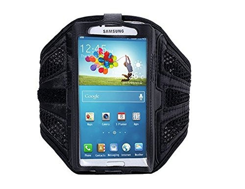 Grandey Waterproof Sport Arm Band Case for Samsung Galaxy S3 S4 S5 S6/ Edge Arm Phone Bag Running Accessories Band Gym Pounch Belt Cover (Black)