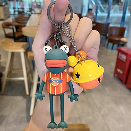 jsobh Keychains Korean Version Of Cartoon Ugly Cute Long Legs Frog Cute Frog Key Chains Men And Women Bags Pendant Key Rings Gifts Cartoons (Color : 5)