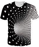 NEWISTAR Unisex 3D Druckten Sommer-beiläufige Kurze Hülsen-T-Shirts T-Stücke XXL