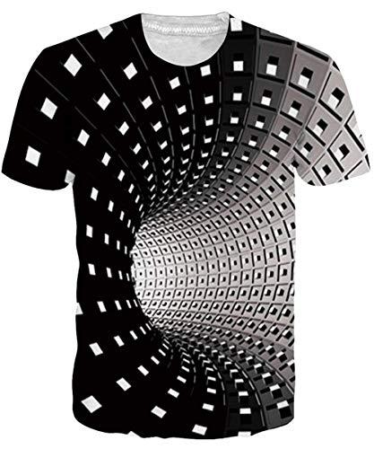 NEWISTAR Unisex Jugend 3D Druck Grafik Casual Kurzarm T-Shirt , Desert Wolf, XL
