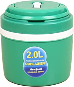 LOVIVER Double Wall Ice Bucket Car Insulated Bucket w/Lid Lunch Thermal Insulated Container with Handle for Travel Beverage Cooler