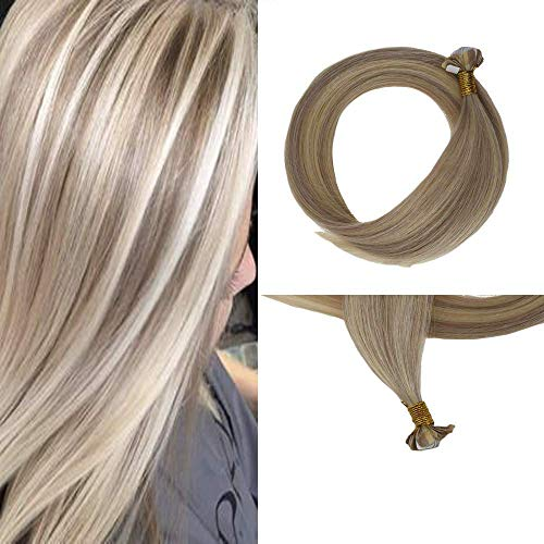 Easyouth Seamless Tape Haarfarbe # 18 Aschblondes Highlight mit Farbe # 613 Gelbblond 20g/Packung Skin Weft Tape für Frauen Hochwertiges glattes Haar