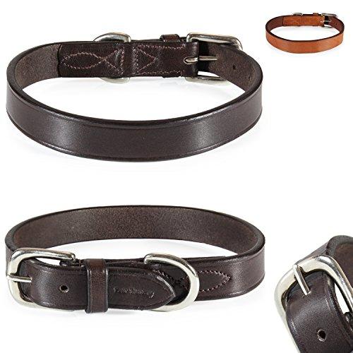 Pear - Tannery - Classic Line: Hundehalsband Aus Weichem Vollrindleder, XS 29-37cm, Chocolate