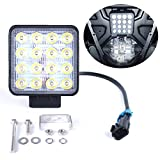 UNIGT Back-up Light Assembly Kit Compatible with 2018-2020 Polaris Ranger Crew 1000 XP Premium Rear Spot LED Reverse Light Below Cargo Bed with Instruction - Plug N Play