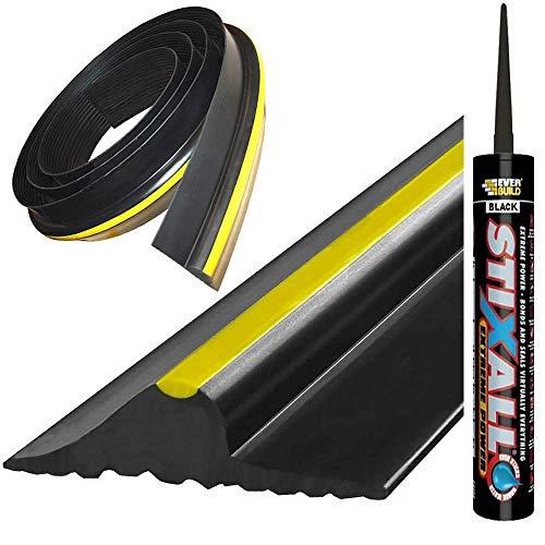 Rubber Garage Door Floor Threshold Weather Draft Excluder Seal Protector...