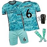 DFGVB Salah 10# Football Jersey, Liverpools Team Fussball Jersey Erwachsene Kinderhemd + Shorts + Socken Set (XS-XXL) Thiago-18
