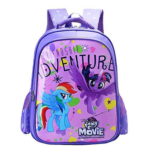 MY L. Pony Backpacks for Girls Kids Cute Bookbag Purple School Bags