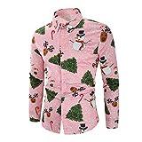 Herren Freizeithemd Button Down T-Shirts Langarmshirts Blumenhemd 3D Gedruckt Muster Hemd...