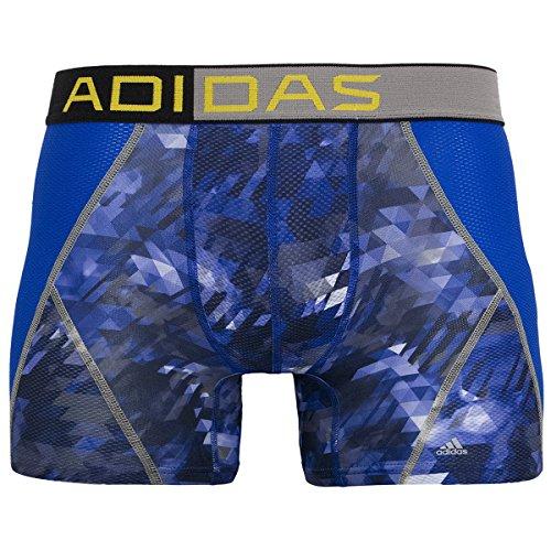 adidas Climacool Herren-Unterhose aus Netzstoff, Energy Camo Bold Blue/Tech Grey, Größe L