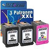Tito-Express PlatinumSerie Set 3 Druckerpatronen für HP 300 XL Photosmart C4700 C4740 C4750 C4780 C4785 C4795