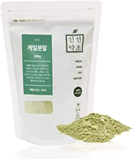 Sinsunherb Korean Kale Powder | 200g | 1 Pack, Korean Fresh Angelica Keiskei Powder, Perfect Nourishing Veggie, 케일가루