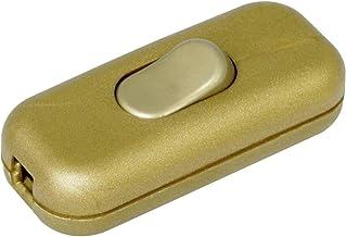 Kopp 191307003 Snoerschakelaar Met trekonlasting Goud 1x uit/aan 2 A 1 stuk(s)