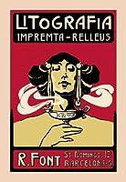 Litografia Impremta-Relleus ファインアートキャンバスプリント (20インチx30インチ)