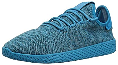 adidas Originals Unisex-Kid's PW Tennis HU Running Shoe, Bold Aqua/Bold Aqua/Chalk White, 5.5 M US Big Kid