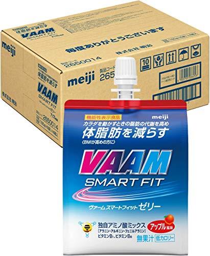 【ケース販売】明治 ヴァーム(VAAM) スマートフィットゼリー アップル風味 180g×24個 [機能性表示食品]