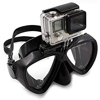 PATALACHI DERTA Silicone Diving Glass with Detachable Screw Mount Diving Mask Scuba Snorkel Swimming Goggles for Sports Camera GoPro HD Hero 8/7/6/5/4/3,GoPro Session,5/4 Session,DJI Osmo Action