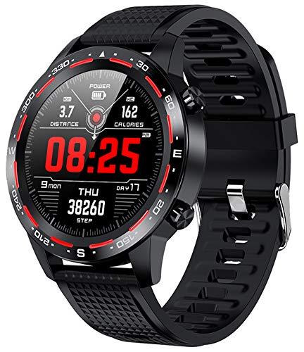 XWZ Smart Watch Reloj Inteligente Fitness Tracker Smartwatch Pulsera Smartwatch Bandas Deportes Smartwatch Bluetooth Call Business Smartwatches 1.3 Pulgadas Pantalla Táctil Completa,A