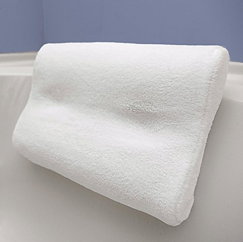 IndulgeMe Super Soft Non Slip Bath Pillow, Bonus Travel Case and Soft Removable Cover, Extra Large...