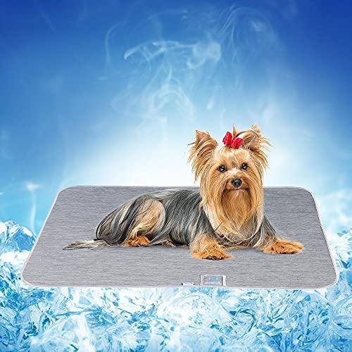 Luxear Kühlmatte Hunde Katzen für Sommer, Kühl Hundedecke mit Arc-Chill Kühlfasern waschbar, Hundematte selbstkühlend rutschfest ungiftig saugfähig, Kühldecke kühl Matte Pads für Haustiere, 50×70cm