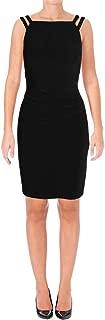 Ralph Lauren Womens Beaded Strap A-line Sheath Dress Black 14