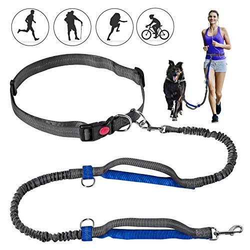 Petsvv Hands Free Dog Leash amp DualHandle Bungees Leash for Large and Medium Dogs Reflective Stitching Leash for Running Walking Hiking