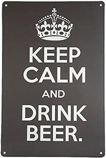 dingleiever-Keep Calm and Drink Beer Metal Poster Art Wall Decor Garage Man Cave