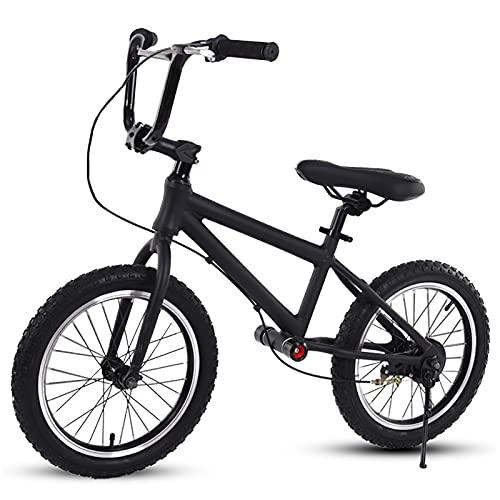Bicicletas sin Pedales Bicicleta de Equilibrio Deportiva Sin Pedales para Jóvenes, de 6 a 15 Años, Bicicletas para Caminar Ajustables con Ruedas de 16 Pulgadas y Asiento Ajustable ( Color : Black )