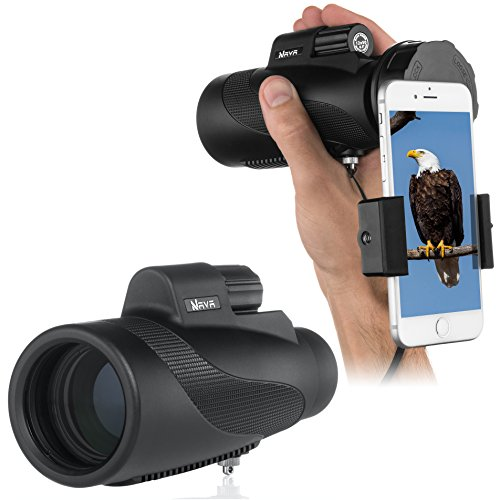 High Power Prism Vision Monocular-12x50 HD Dual Focus Waterproof Telescope and...