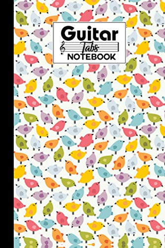 Guitar Tab Notebook: Birds Guitar Tab Notebook, Music Paper Notebook, Blank Guitar Tablature Music Note, 120 Pages - Size 6