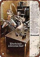 ハネウェル電子メールシステム壁の金属のポスターレトロなプラークの警告ブリキのサインヴィンテージ鉄の絵画の装飾オフィスの寝室のリビングルームクラブのための面白いハンギングクラフト