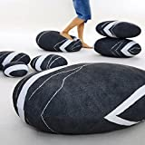 WOWMAX Three-Dimensional Curve Living Stones Floor Pillows 7 Piece Set Mixed Designs Home Decoration Stuffed Throw Pillows Big Rock Pillows New Pebble Pillows 7 PCS Cobblestone