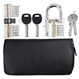 Pransparent Candado AB Lock Picks de titanio 24 Piezas y dos cerraduras cerrajería Formación bloqueo conjunto Kit de herramientas de bricolaje