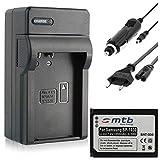 Batería de repuesto + cargador (red + coche) compatible con Samsung ED-BP1030, BP1130 para Samsung NX200, N21, NX300, NX1000, NX1100 y NX2000 (ion de litio, 850 mAh, 7,4 V)