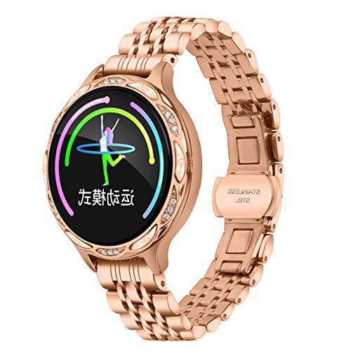 Smart Watch, M9 Women's IP68 Waterproof Watch, Ladies Fitness Tracker Monitor De Ritmo Cardíaco Pulsera Inteligente,E