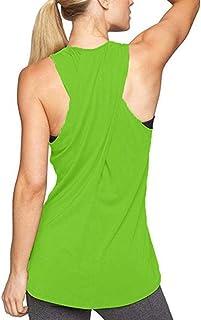 8228f97d3e2cac Lofbaz Women Cross Back Yoga Shirt Activewear Workout Clothes Racerback  Tank Top