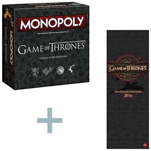 Monopoly Game of Thrones Collector's Edition - Deutsch + Game of Thrones Vertical 2016 Kalender
