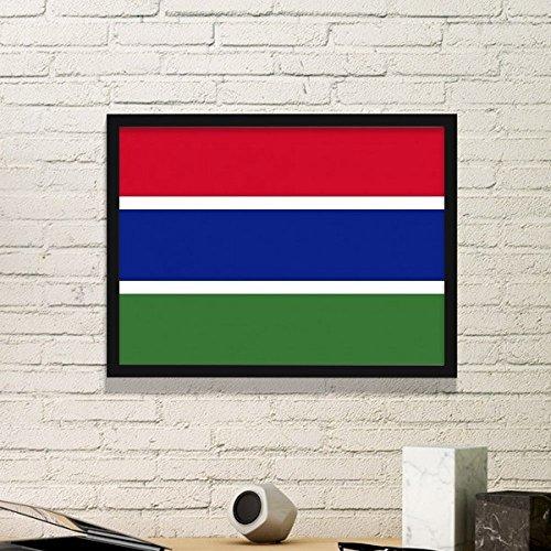 DIYthinker Gambia Símbolo Nacional de la Bandera de país de África Marcos patrón Simple de Fotos Marco de Cuadros de Pinturas Pared del hogar de la Etiqueta Medio Negro