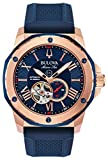 EXPRESS!!SHIPPED WITHIN MINUTES!! Bulova Mens Analogue Automatic Watch with Silicone Strap 98A227