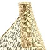 12'x10yd Natural Loose Weave Burlap Ribbon