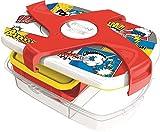 Maped Picnik Concept Boîte à Déjeuner Repas Enfants 3 Compartiments, dont 1 Compartiment Etanche et Amovible Sans BPA ni Phtalates - Comics - 1,7L
