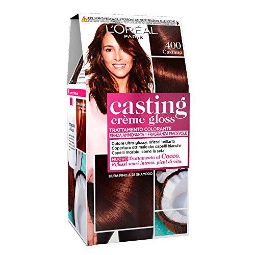L'OréAl Paris Colorazione Capelli Casting Crème Gloss, Tinta Colore Trattamento senza Ammoniaca per Una Fragranza Piacevole, 400 Castano