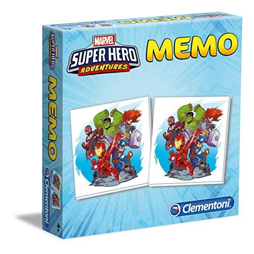 Clementoni - 18075 - Memo Games - Superhero Marvel Avengers, gioco di memoria e associazione, gioco educativo bambini 3 anni, gioco da tavolo per bambini - Made in Italy