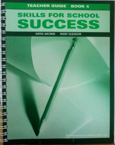 Skills For School Success Teacher Guide Book 4