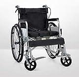 Cómoda y ligera silla de transporte envejecimiento sillas plegables turismo, las personas discapacitadas caso de auto-cinturón