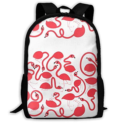 JNMJK Hochleistungs-Unisex-Flamingos für Erwachsene! Büchertasche Reisetasche Schultaschen Laptoptasche